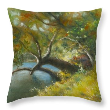 River Reverie Throw Pillow