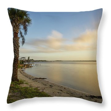 River Road  Sunrise  Throw Pillow