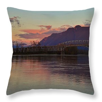 Fraser River, British Columbia Throw Pillow