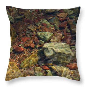 River Rocks Throw Pillow