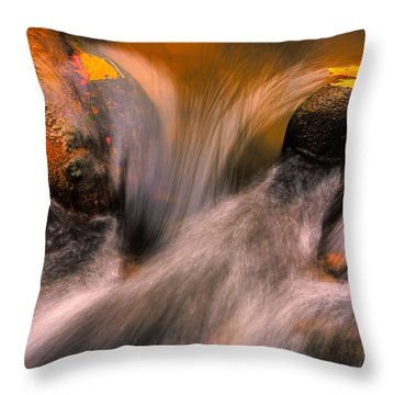 River Rocks, Zion National Park Throw Pillow