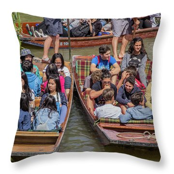 River Rush Hour Throw Pillow by David Warrington