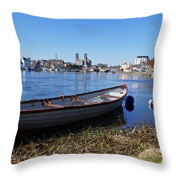 River Shannon At Athlone Throw Pillow
