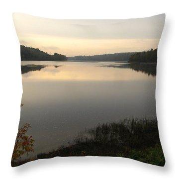 River Solitude Throw Pillow