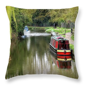 Throw Pillow featuring the photograph River Stort In April by Gill Billington