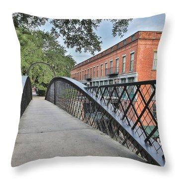 River Street Connection Throw Pillow