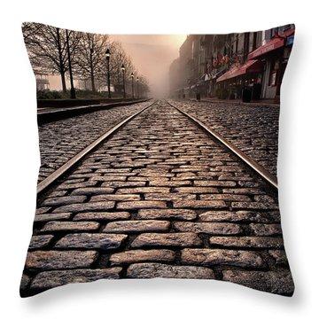 River Street Railway Throw Pillow