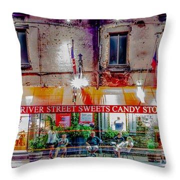 River Street Sweets Candy Store Savannah Georgia   Throw Pillow