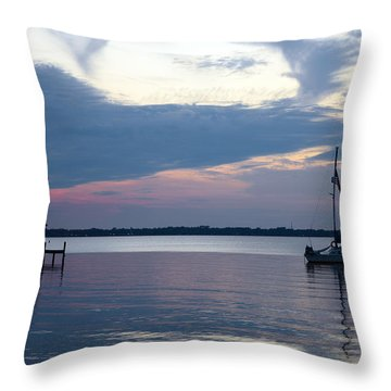 Throw Pillow featuring the photograph River Sunset by Anthony Baatz