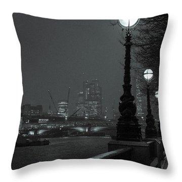River Thames Embankment, London 2 Throw Pillow