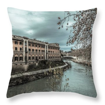 River Tiber Throw Pillow by Sergey Simanovsky