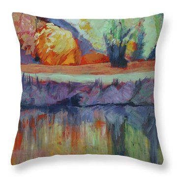 River Tweed Throw Pillow