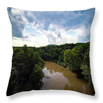 River View From Above Throw Pillow