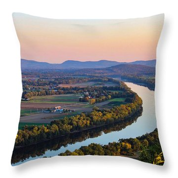 Connecticut River View  Throw Pillow