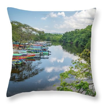 River Views In Negril, Jamaica Throw Pillow
