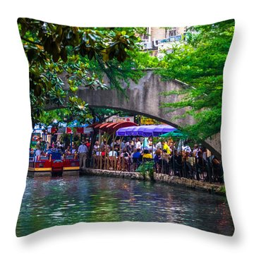 River Walk Dining Throw Pillow