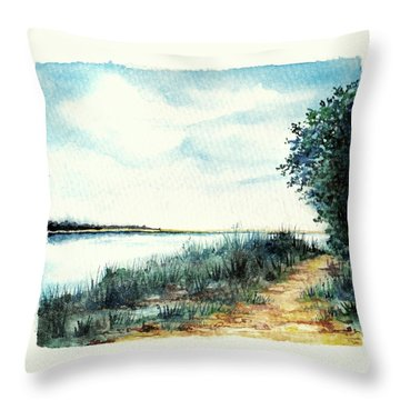 River Walk Throw Pillow by Heidi Kriel