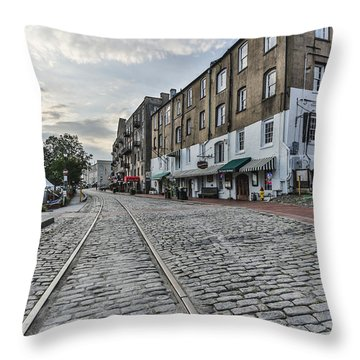 River Walk Throw Pillow