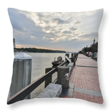 River Walk Path Throw Pillow