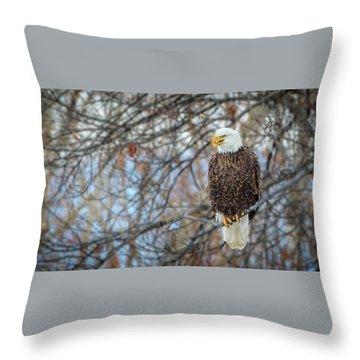 River Watcher  Throw Pillow