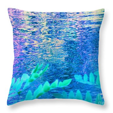 Distractions From The River Waters Throw Pillow