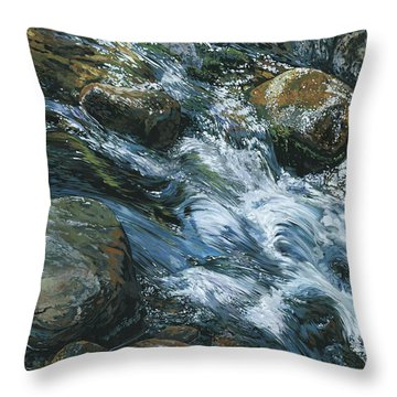 River Water Throw Pillow by Nadi Spencer