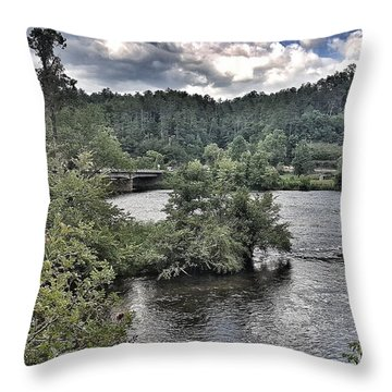 River Wonders Throw Pillow