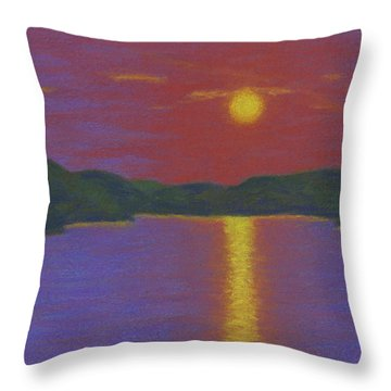 Riverboat Sunset Throw Pillow