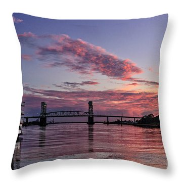 Cape Fear Riverboat Throw Pillow