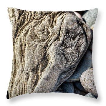 Rivered Stone Throw Pillow