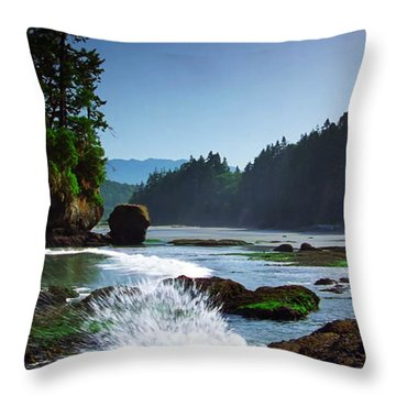 Rivers And Lakes Around Olympic National Park America Throw Pillow