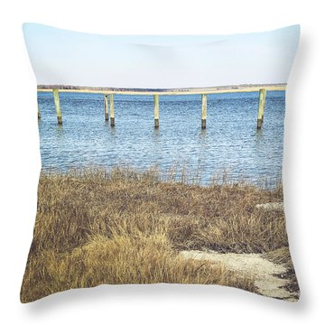 Throw Pillow featuring the photograph River's Edge by Colleen Kammerer