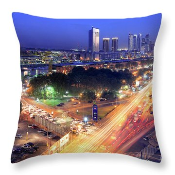 Throw Pillow featuring the photograph Rivers Of Light by Bernardo Galmarini