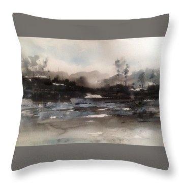 Rivers Of Light Series Throw Pillow