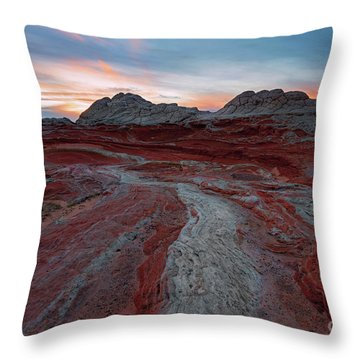 Rivers Of Red Throw Pillow