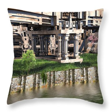 Riverside Pavilion Throw Pillow