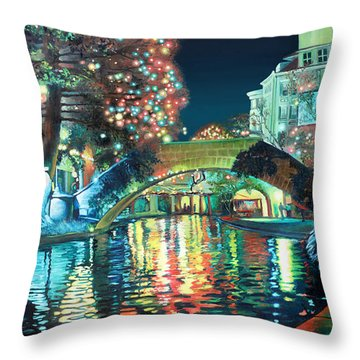 Riverwalk Throw Pillow by Baron Dixon