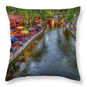 Riverwalk San Antonio Texas Throw Pillow