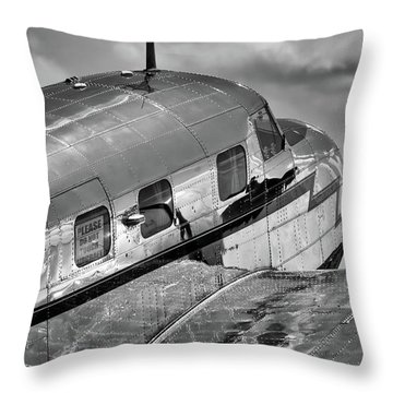 Rivets And Polished Metal Throw Pillow