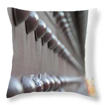 Rivets Throw Pillow by Diane Greco-Lesser