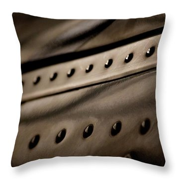 Throw Pillow featuring the photograph Rivets by Paul Job