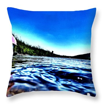 Rivewaves Throw Pillow