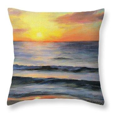Riviera Sunrise Throw Pillow