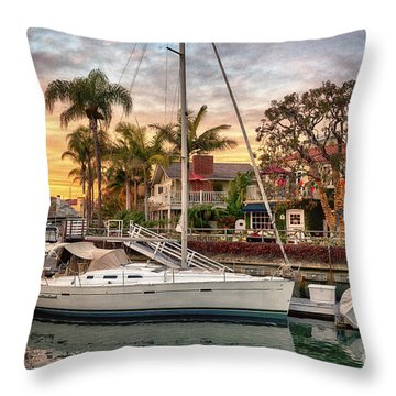 Rivo Alto Canal And Naples Canals Throw Pillow