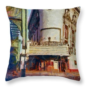 Rko Bushwick Theater 1974 Throw Pillow
