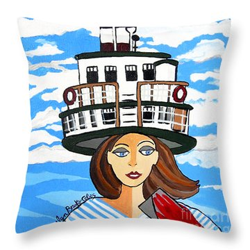 R.m.s. Segwun - Delivering The Mail  Throw Pillow