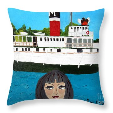 R.m.s. Segwun - With Phoenix Throw Pillow