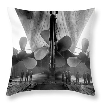 Rms Titanic Propellers Throw Pillow