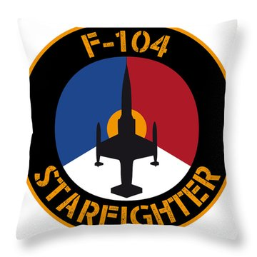Rnlaf F-104 Starfighter Throw Pillow