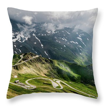 Road Austria Throw Pillow